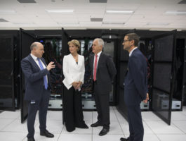 Prime Minister Malcom Turnbull visited the Centre, joined by the Honourable Michaela Cash, Minister for Minister for Jobs and Innovation, and met with Pawsey staff for the announcement of the Commonwealth Government investment to secure the next generation of supercomputers. Credit: Sahlan Hayes