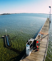 Mid-scale test site at Como Jetty, Western Australia