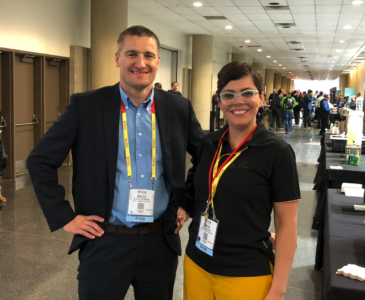 Maciej and Karina at SC18
