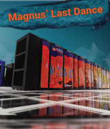 Magnus' Last Dance: The Magnus Supercomputer on a teal background