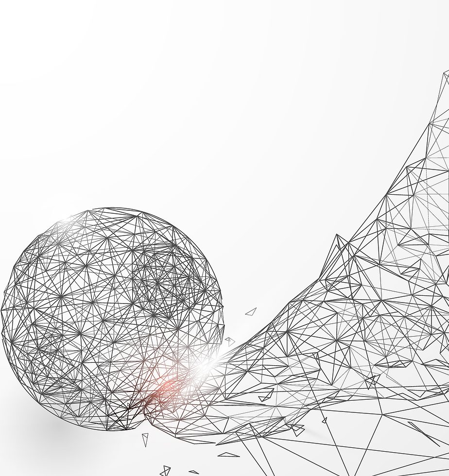 Abstract low polygon football kicking the ball wireframe mesh background